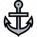 anchor, marine, nautical icon, sea icon