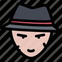 bandit, bandits, crime, criminal, mafia, mafioso icon