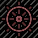 helm, marine, steering, wheel