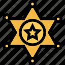 badge, sheriffs, star, west, wild