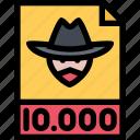 crime, criminal, mafia, wanted icon