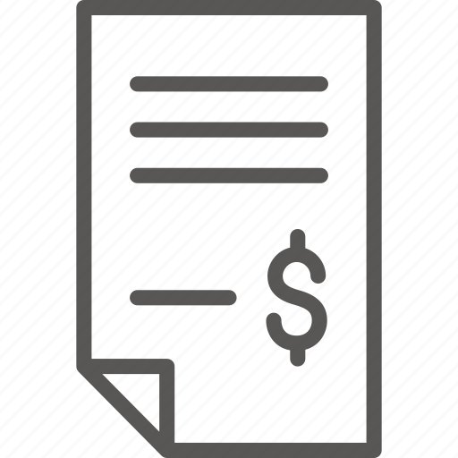 bill, checkout, document, file, paper, payment icon