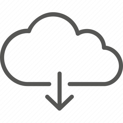 arrow, cloud, data, down, download, network, storage icon