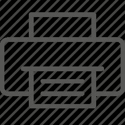 output, print, printer icon