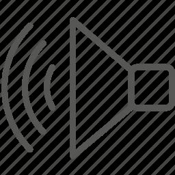 audio, loud, music, play, sound, speaker, volume icon