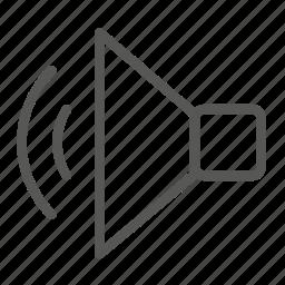 audio, music, play, player, sound, speaker, volume icon