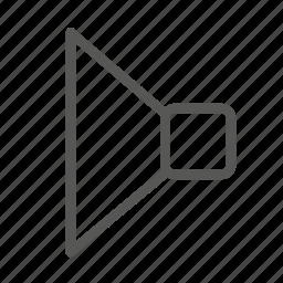 audio, media, music, play, sound, speaker, volume icon