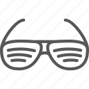 glasses, sun, sunglasses, sunny, weather icon