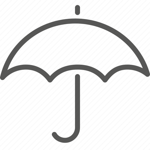 forecast, insurance, protect, rain, secure, umbrella, weather icon