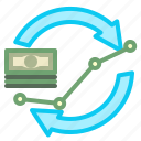 cash, finance, flow, money icon