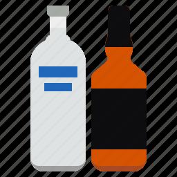 alcohol, bottle, vodka, whisky icon