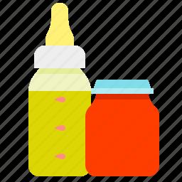 baby food, jar, juice, puree icon