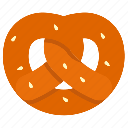 bakery, bread, food, pretzel icon