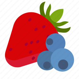 berries, bilberry, dessert, strawberries icon