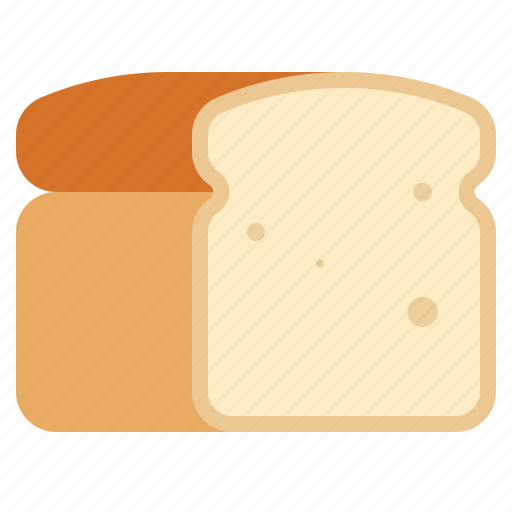 bread, food, loaf, white bread icon