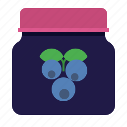 berry, bilberry, canned-berries, preservation icon