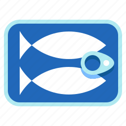 canned-fish, fish, preservative, sea-food icon