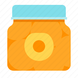 apricot, canned-fruits, fruit, jar icon