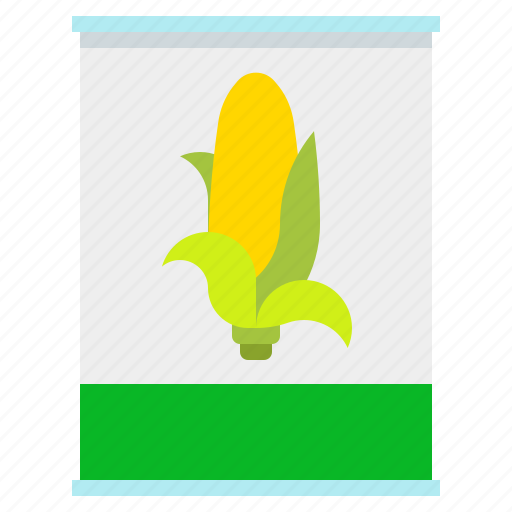 canned-vegetables, maize, preservation, vegetable icon