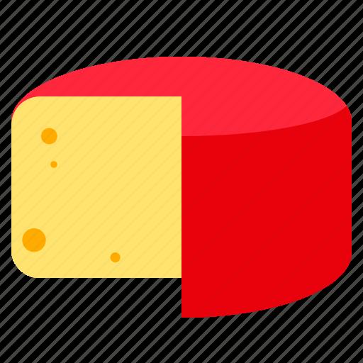 cheese, food, kebbuck, truckle icon