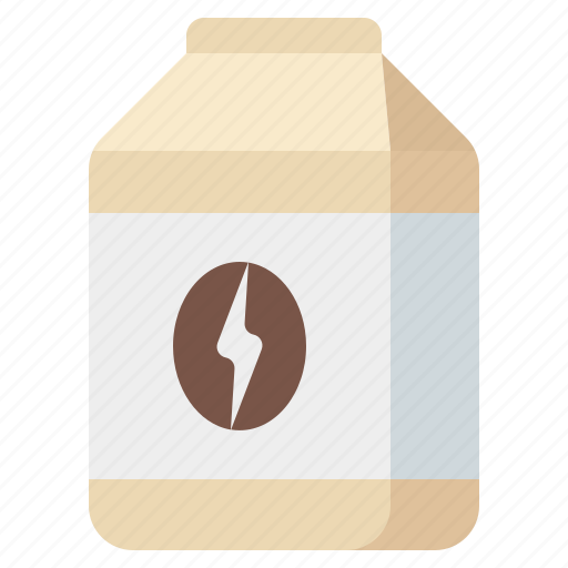 coffee, coffee-bean, ground, package icon