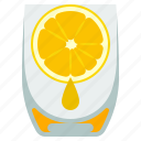 drink, glass, juice, orange icon