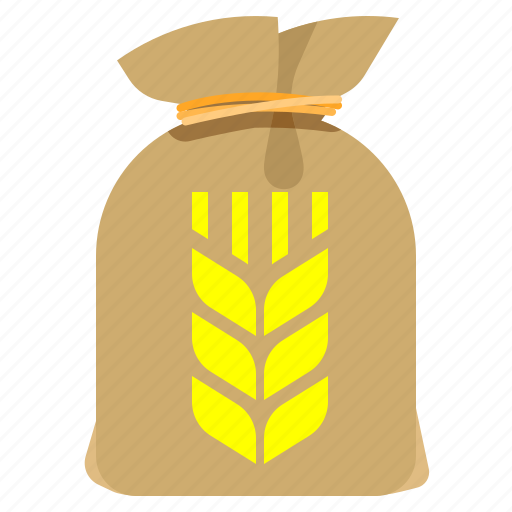 bag, corn, grained, groceries icon
