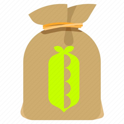 bag, groceries, pea, sack icon