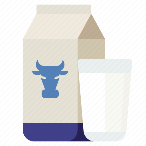 drink, glass, milk, packing icon