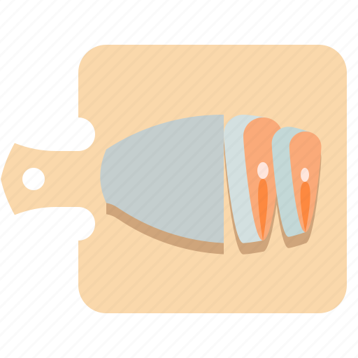 cooking, dress, fish, semi-finished fish icon