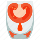 drink, glass, juice, tomato icon