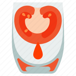 drink, glass, juice, tomato icon