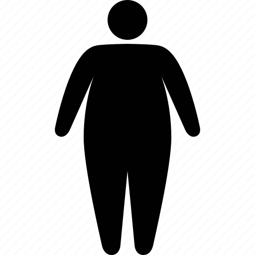 acceptance, body, fat, human, obese, obesity, overweight icon