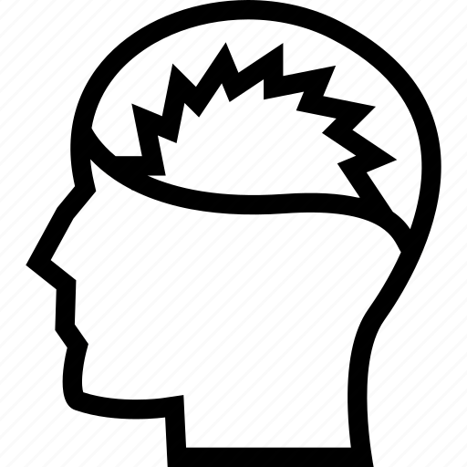 head, head pain, headache, migraine, sick icon