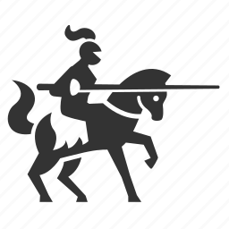 battle, contest, knight, maneuver, medieval, warhorse, warrior icon