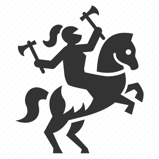 axe, battle, chevalier, horse riding, knight, war, warrior icon