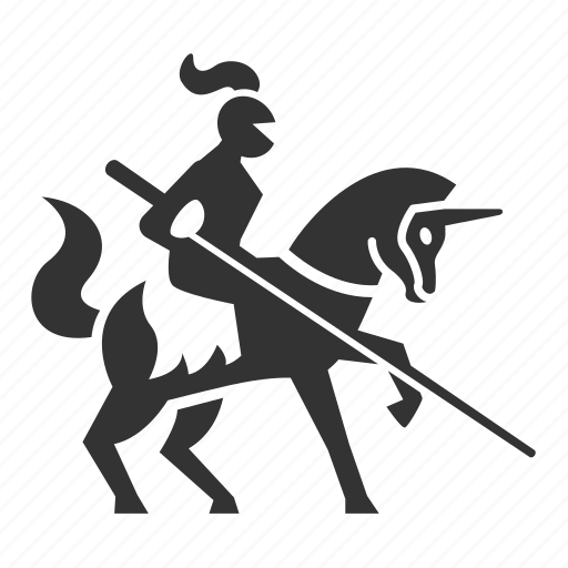 chevalier, knight, lance, middle ages, warhorse, warlord, warrior icon