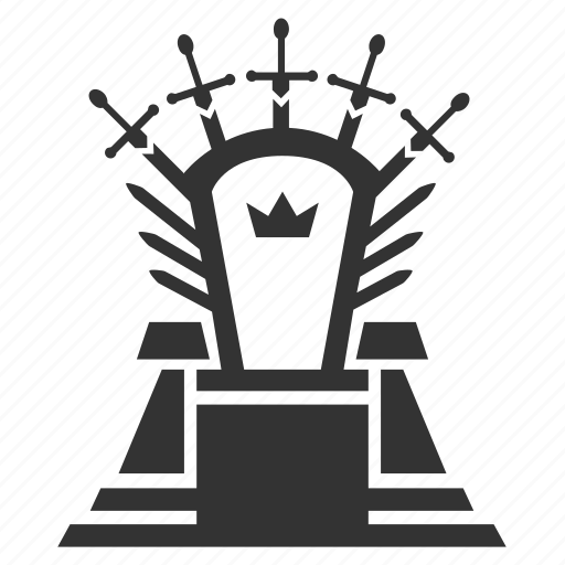 bench, conqueror, king, medieval, monarch, sovereign, throne icon