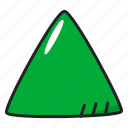 polygon, pyramid, triangle icon