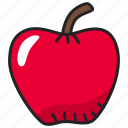apple, food, fresh, fruit, healthy, vitamin icon