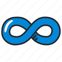 eternity, infinite, infinity, loop icon