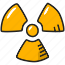 danger, hazard, nuclear, radiation, radioactive, science icon