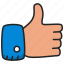 finger, like, thumb, up icon
