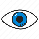 eye, eyesight, search, sight, view, watch icon