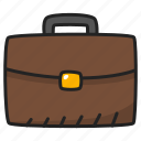briefcase, business, case, diplomat, portfolio, suitcase icon