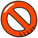 no, prohibition, warning icon