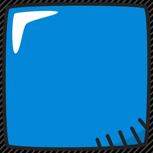 badge, rectangular, square icon