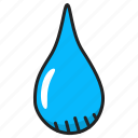 drop, liquid, rain, water icon