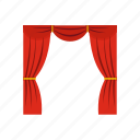 backdrop, cinema, curtain, performance, show, stage, velvet icon