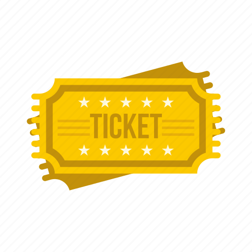 cinema, coupon, entertainment, film, paper, theater, ticket icon